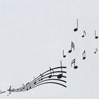 Music Note Style DIY Wall Art PVC Stickers Removable Wallpaper Sticker