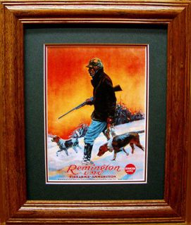 Remington Shotgun/Beagle Hunting Dogs/Rabbit Hunter/Old Time Poster