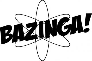 BAZINGA sticker   The Big Bang Theory drift euro vw vag jdm jap stance