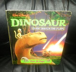 walt disney dinosaur giant match the flaps board book time