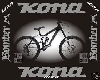 kona 2010 stinky deluxe mountain bike frame stickers time left