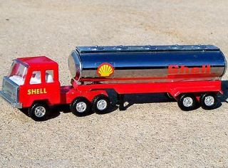 1970s KY Pressed Steel SHELL Gas & Oil Tanker Tractor Trailer Truck
