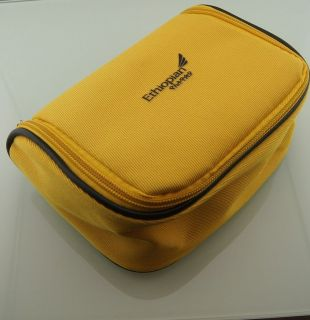 Yellow Ethiopian Airlines Business Class Travel Amenity Kit Overnight