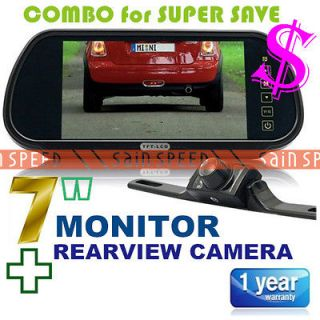 inch Car Rearview Mirror Monitor DVD VCR VCD wide Screen + Rearview