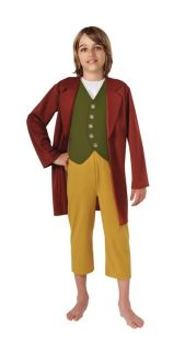 Boys Bilbo Baggins Costume The Hobbit Lord of the Rings Sm Med Lg FREE