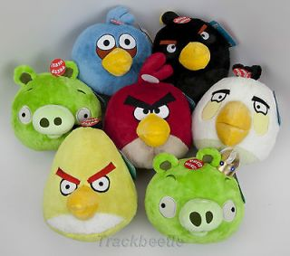 Red Bird Angry Birds w/ sound plush toy w/ tags, NEW, collectors