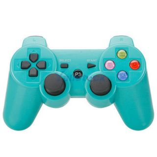 New Wireless Bluetooth Controller with Color Button for Sony PS3 Green
