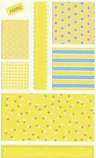 Mrs. Grossmans Fabric Swatches Yellow French Country 25 Sheets
