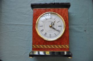 linden mantle clock 10 x 7 working for parts restore