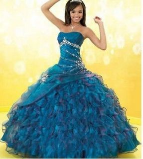 New Strapless New Quinceanera dress Prom ball gowns color bridal dress