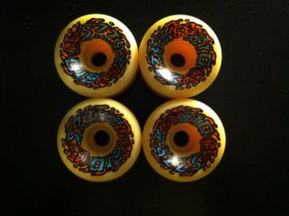 SANTA CRUZ SLIMEBALL BIGBALLS NOS YELLOW 65MM 92A NEW VINTAGE