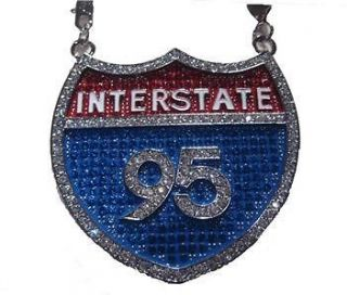 Interstate I95 Fat Joe Rick Ross Franco Chain Necklace Pendant hip hop