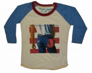 New Authentic Rowdy Sprout Bruce Springsteen Vintage Kids Raglan T