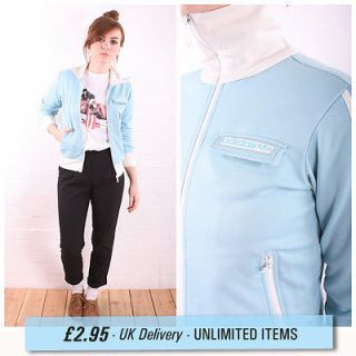 womens ADIDAS ORIGINALS SKY BLUE TRACKSUIT TOP SPORTS JACKET 10
