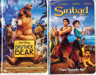 Walt Disneys Brother Bear (VHS, 1999) & Sinbad (VHS, 2003)