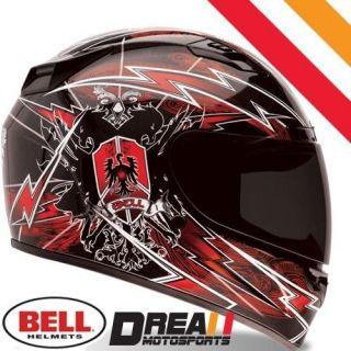 BELL VORTEX SIEGE RED FULL FACE MOTORCYCLE HELMET DOT SNELL  MEDIUM M