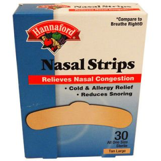 Brand Large Tan Nasal Strips Sleep Aid Stop Snoring breathe right