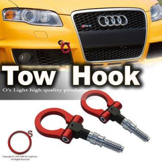 PAIR TITANIUM ALUMINUM RACING RED TOW HOOK/TOWING EYE KIT TOYOTA/LEXUS