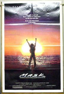1985 MASK Original 1 Sheet Movie Poster  CHER Eric Stoltz (MHPO 135)