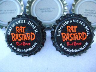 100 New uncrimped ( Rat Root Beer ) bottle, cap crowns. Soda and Beer