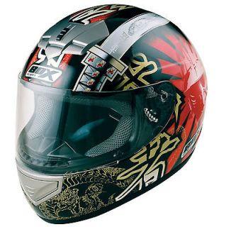 BOX BX 1 BX1 SAMURAI FULLFACE MOTORCYCLE MOTORBIKE SCOOTER HELMET