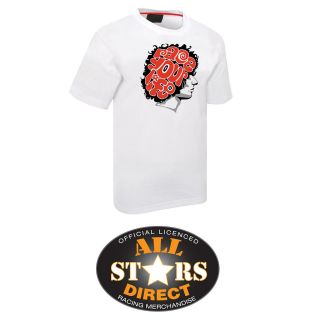 New Official Marco Simoncelli Moto GP Race your life T Shirt in White