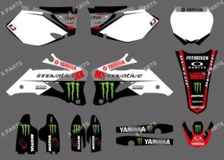 TEAM GRAPHICS&BACKGROUNDS DECALS STICKERS For YAMAHA YZ250F YZ450F