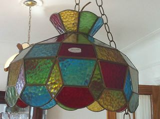 Tiffany Hanging Lamp, San Ysidro California #92073 STUNNING COLORS