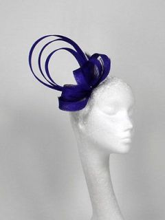 Newly listed Royal Purple Fascinator Hat for weddings/ascot/proms