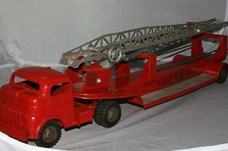 1950 s structo aerial ladder truck diecast cab time left