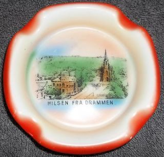 Vintage Victoria China Czechoslovakia Ashtray Norway Hilsen Fra