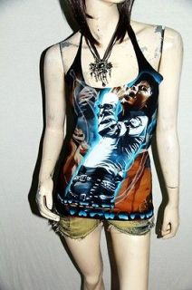 Michael Jackson MJ Pop Dance Rock DIY Sexy Halter Tank Top Shirt