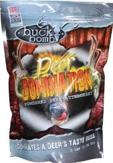 The Buck Bomb Deer Domination Attractant 15 lbs. 5 3 lb. Bags
