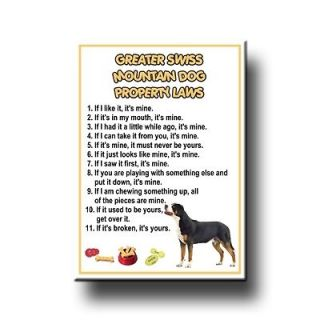 greater swiss mountain dog property laws fridge magnet time left