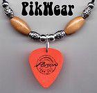 Poison Bret Michaels Orange Guitar Pick Necklace   2011 Tour 25th