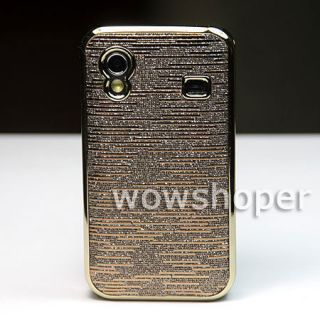 Chrome Plated Back skin case cover for Samsung Galaxy Ace S5830 brown
