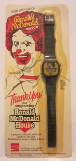 1984 MCDONALDS CORPORATION RONALD MCDONALD WATCH   HONG KONG
