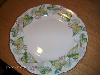 roslyn black bryony fine bone china plate england used returns