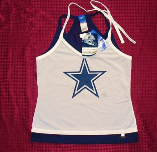 Dallas Cowboys Jersey REEBOK HALTER Double Time Tank LADIES t shirt