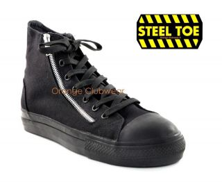 DEMONIA TYRANT 106ST Mens Safety Steel Toe High Top Sneakers Zipper