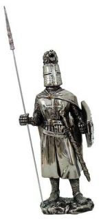 Medieval Knight of Valor Crusader Elite Halbedier Heavy Armor Statue