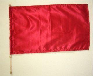 Child Size   Red Satin   Rectangle Flag w Pole   Christian Worship