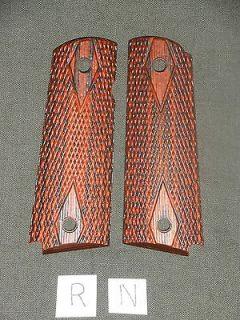 1911 Grips Dbl Dia Red Dymondwood 1911A1 Colt Kimber Springfield