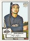 Ryan Braun 2007 SP Exquisite Rookie Biography Auto RC Card 20 Brewers