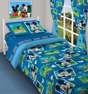 BRAND NEW SINGLE BED FITTED SHEET SET MICKEY MOUSE CLUB HOUSE