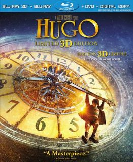 Hugo Blu ray DVD, 2012, Canadian 3D
