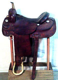 WESTERN SADDLE USED SADDLE SANTA FE SADDLERY 300 HORSE SADDLE
