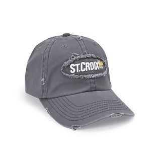 st croix gray tattered low profile ball cap clowgt  20 00