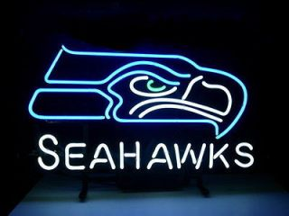 new nfl seattle seahawks football real neon light beer bar pub sign