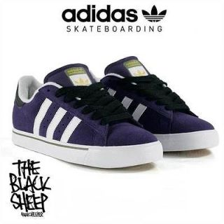 ADIDAS SKATEBOARDING CAMPUS VULC VIOLET/WHITE/L​OAM MENS SKATE SHOES
